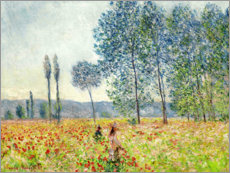 Wood print  Sous les Peupliers - Claude Monet