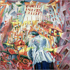 Wall sticker  The Street Enters the House - Umberto Boccioni