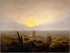 Wall sticker  Moon Rising Over the Sea - Caspar David Friedrich