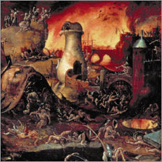 Canvas print  Hell - Hieronymus Bosch
