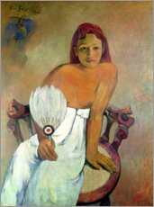 Premium poster  Girl with fan - Paul Gauguin