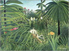 Wall sticker  Jaguar Attacking a Horse - Henri Rousseau