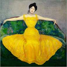 Wall sticker  Lady in a yellow dress - Maximilian Kurzweil
