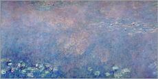 Wall sticker  Waterlilies: Two Weeping Willows (detail) - Claude Monet