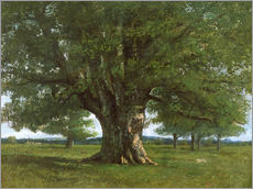 Wall sticker  The Oak of Flagey - Gustave Courbet