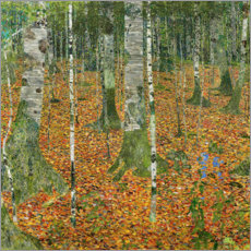 Wood print  The birch wood - Gustav Klimt