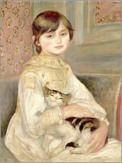 Gallery print  Julie Manet with Cat - Pierre-Auguste Renoir