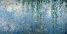 Wall sticker  Waterlilies: Morning with Weeping Willows - Claude Monet