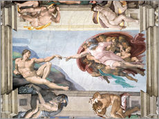Wall sticker  Sistine Chapel: The Creation of Adam - Michelangelo