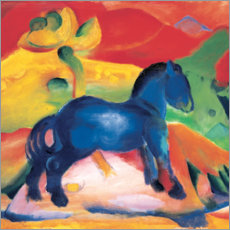 Wood print  Little blue horse - Franz Marc