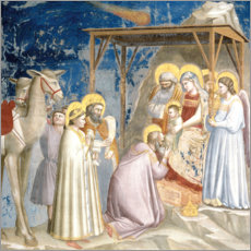 Canvas print  Adoration of the Magi - Giotto di Bondone