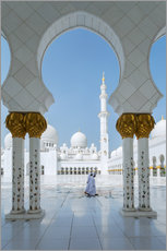 Gallery print  Sheik Zayed Grand Mosque, Adu Dhabi, Emirates - Matteo Colombo