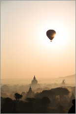 Wall sticker  Sunrise with balloon, Bagan - Matteo Colombo