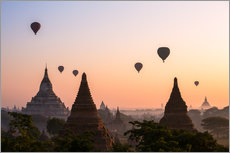 Gallery print  Balloons and temples, Bagan - Matteo Colombo