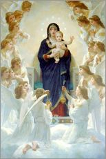 Gallery print  The Virgin with angels - William Adolphe Bouguereau