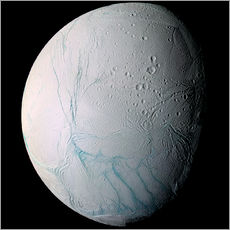 Wall sticker Saturn's moon Enceladus