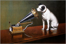 Wall sticker  His master's voice ad - François Barraud