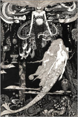 Canvas print  The Little Mermaid - Harry Clarke