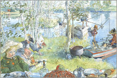 Gallery print  Opening of the crab fishing season - Carl Larsson