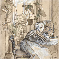 Gallery print  Write a letter - Carl Larsson