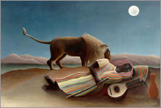 Gallery print  The sleeping one - Henri Rousseau