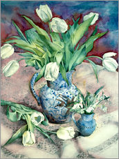 Wall sticker  Tulips and Snowdrops - Julia Rowntree