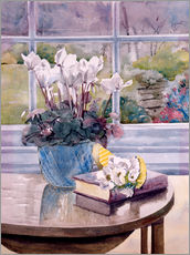 Gallery Print  Flowers and Book on Table - Julia Rowntree