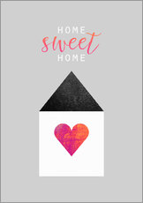 Wall sticker  Home Sweet Home - Elisabeth Fredriksson