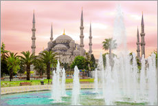 gn fotografie - the blue mosque (magi cami) in Istanbul / Turkey (vintage picture)