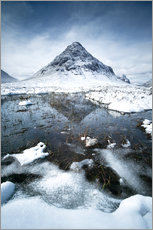 Wall sticker  Snow covered Buachaille Etive Beag, Glencoe, Scotland - Matteo Colombo
