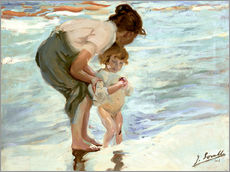 Gallery print  Mother and child on the beach - Joaquín Sorolla y Bastida