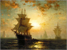 Wall sticker  Sailboats at sunset - Edward Moran