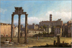 Acrylic print  Ruins of the Forum, Rome - Bernardo Bellotto (Canaletto)