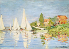 Canvas print  Regatta boats in Argenteuil - Claude Monet