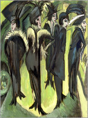 Gallery print  Five women on the street - Ernst Ludwig Kirchner