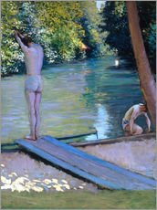 Wall sticker  Bathers on the banks of the Yerres - Gustave Caillebotte