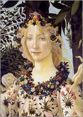 Wall sticker  The spring, the head of the Flora - Sandro Botticelli