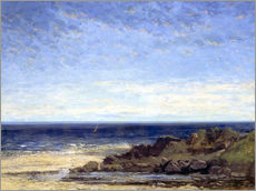 Gallery print  Blue sea - blue sky - Gustave Courbet