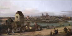 Canvas print  Munich, seen from Haidhausen - Bernardo Bellotto (Canaletto)