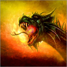 Gallery print  Dragon King - Selina Morgan