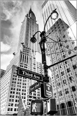 Wall sticker  Chrysler Building, New York City (monochrome) - Sascha Kilmer