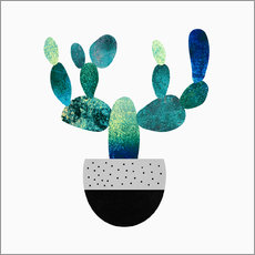 Wall sticker Cactus blue