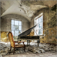 Wall sticker  The old piano - Mario Benz