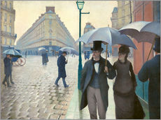 Gallery print  Paris Street, rainy day - Gustave Caillebotte