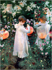 Wall Stickers  Carnation, Lily, Rose - John Singer Sargent