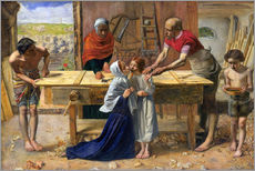 Gallery print  Christ in the house of his parents - Sir John Everett Millais