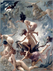 Wall sticker  Witches going to their Sabbath - Luis Ricardo Falero