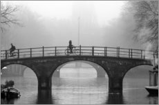 Gallery Print  Amsterdam canal in black and white - George Pachantouris