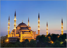 Wall sticker Blue Mosque at twilight