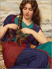Gallery print  A congenial task, detail - John William Godward